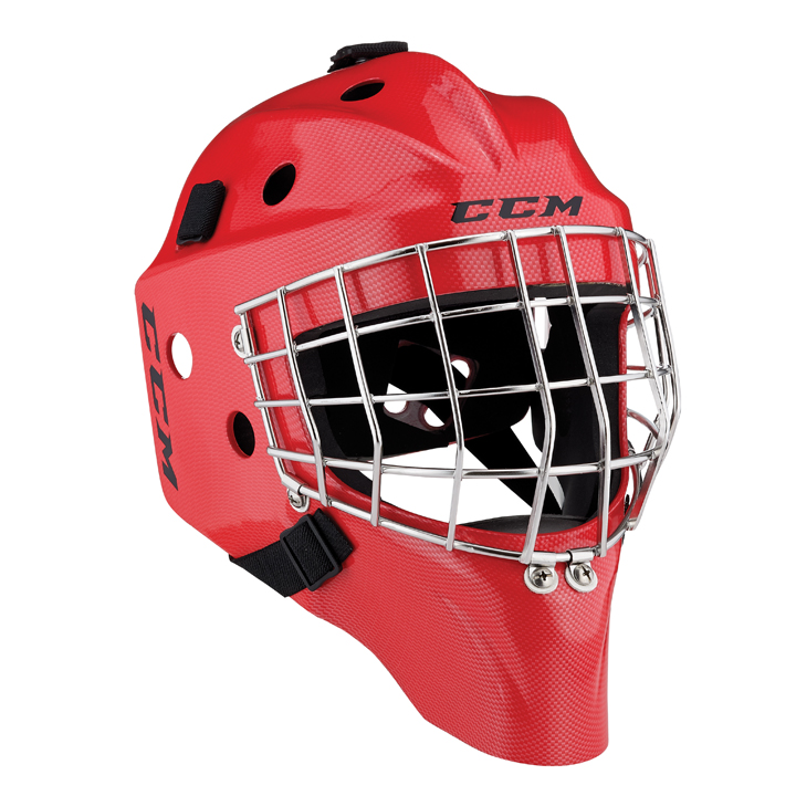 CCM 1.5 Youth Goalie Mask - Red CF