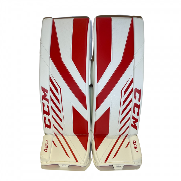 CCM Axis Pro Senior Goalie Pads red