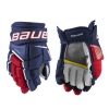 : Bauer Supreme S21 Ultrasonic Junior Glove red and blue