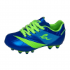 eletto kids soccer cleat blue and green front