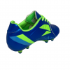 eletto kids soccer cleat blue and green back side